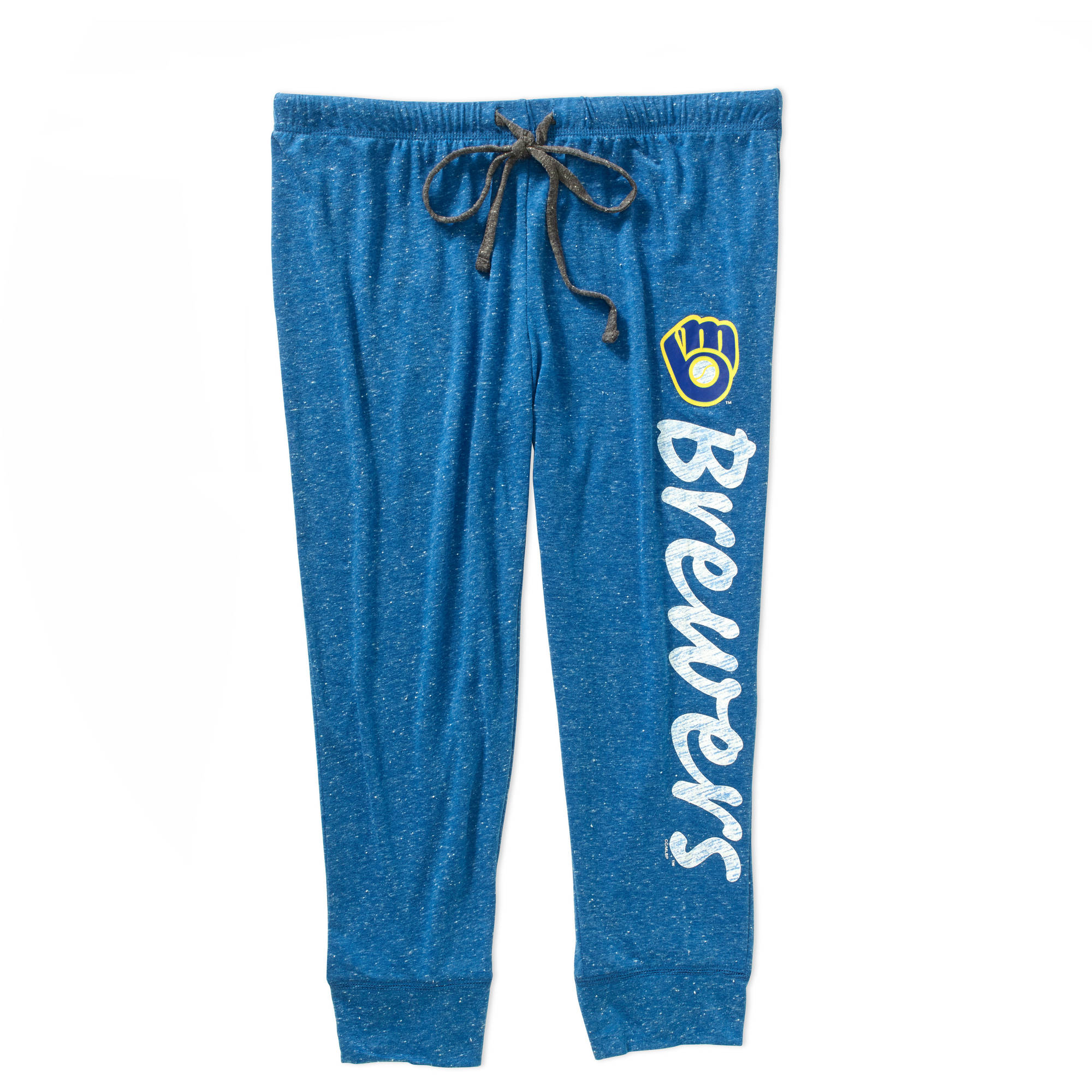 MLB Women's Milwaukee Brewers Retro Knit Capri Pants