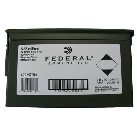 Federal Ammunition Fed 5.56x45mm 62gr Fmj Ball Clipped/420