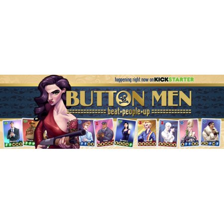 - Cheapass Button Men Card Game: Beat People Up