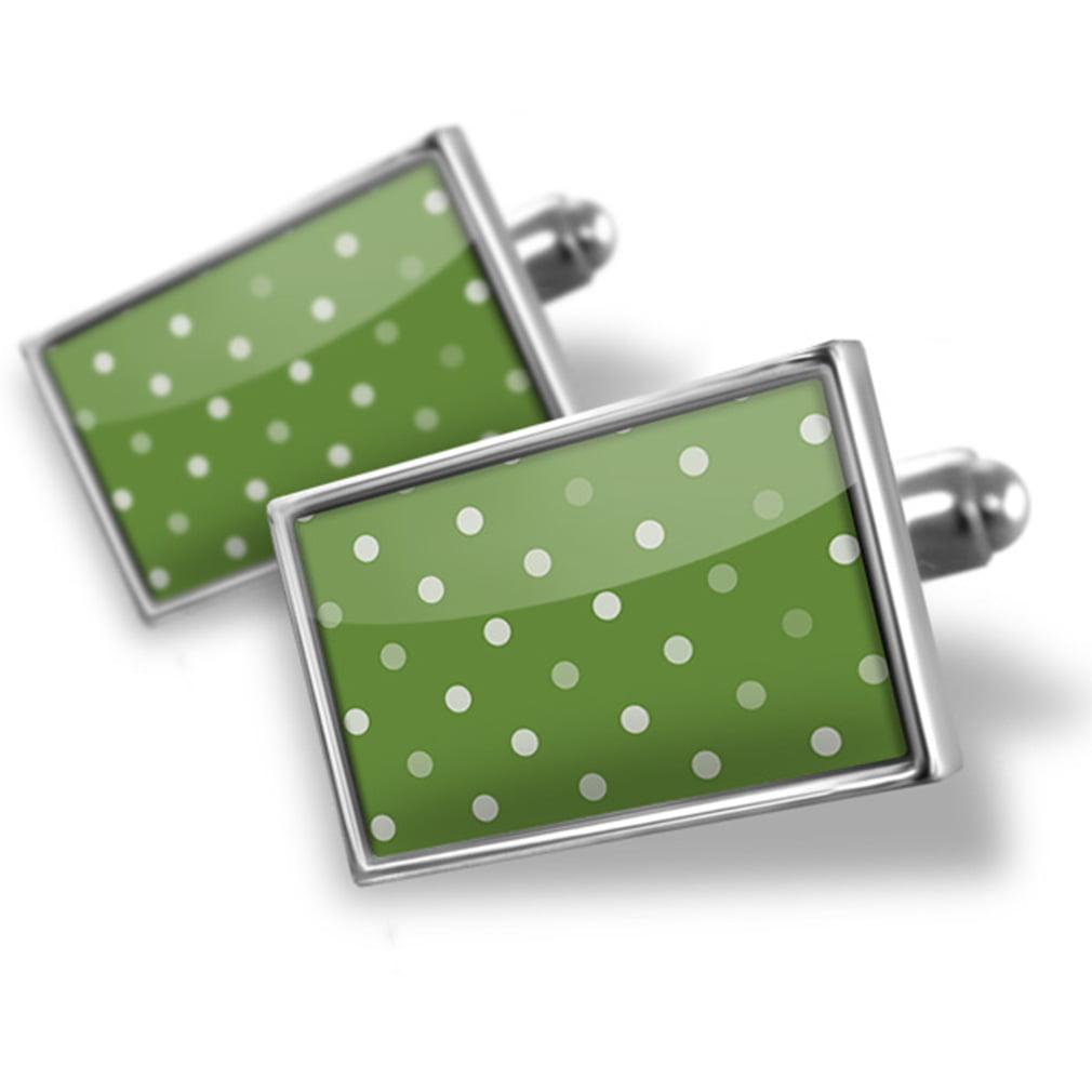 Cufflinks Green dotted pattern - NEONBLOND
