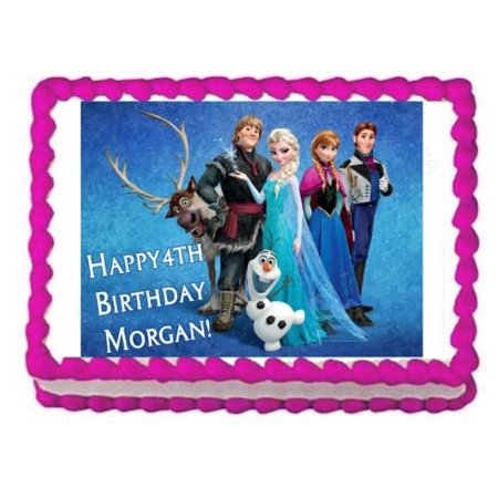 Walmart Frozen Cake (Frozen edible party cake topper decoration frosting sheet)
