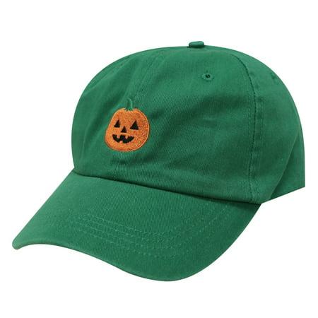 City Hunter C104 Halloween Pumpkin Cotton Baseball Dad Caps 16Colors (Kelly Green)](Halloween City Printable Coupons)