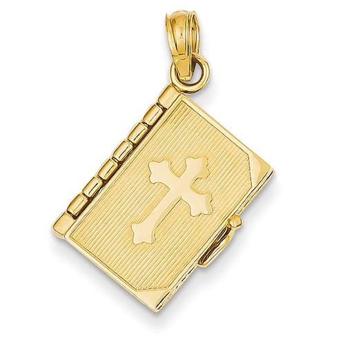 14k Yellow Gold Lords Prayer Bible Pendant