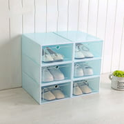 Clear Plastic Shoe Boxes Stackable Floding DIY Shoe Drawers Storage Container Organizers