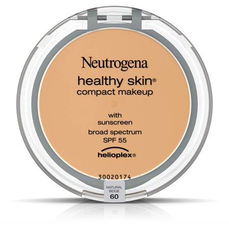 Neutrogena Healthy Skin Compact Makeup Foundation, Broad Spectrum Spf 55, Natural Beige 60,.35 Oz. - Pale Skin Halloween Makeup