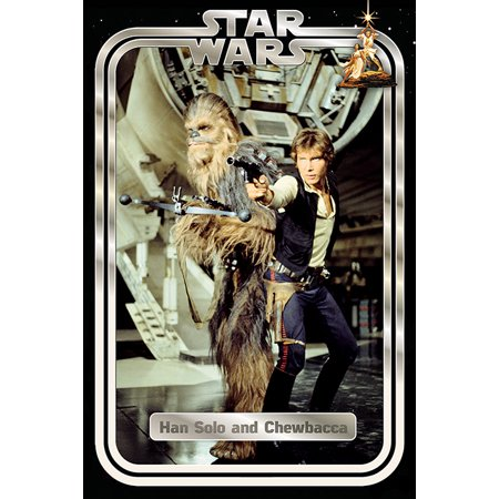 Star Wars: Episode IV - A New Hope - Movie Poster / Print (Han Solo & Chewbacca / Chewie With Blasters) (Size: 24