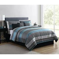 Mainstays Preston Woven Jacquard 7-Piece Comforter Set with BONUS Pillows and Shams
