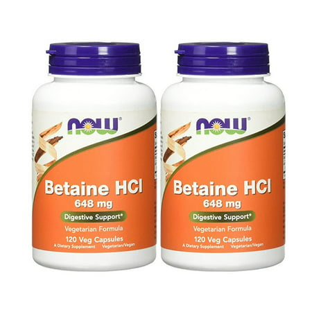 Now Foods - Betaine HCl 648 mg 120 Capsules (Pack of
