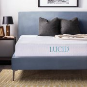 "Lucid 10"" Dual-Layered Gel Memory Foam Mattress, Multiple Sizes"