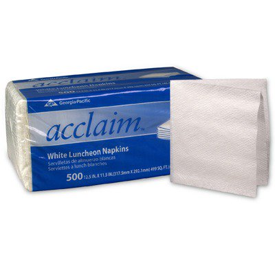 Luncheon Napkins, 1-ply, 12.5 X 11.5, White, 500/pack (Pacific Luncheon Napkins)