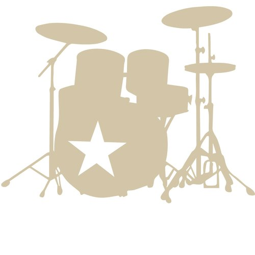 The Decal Guru Star Drummer Wall Decal