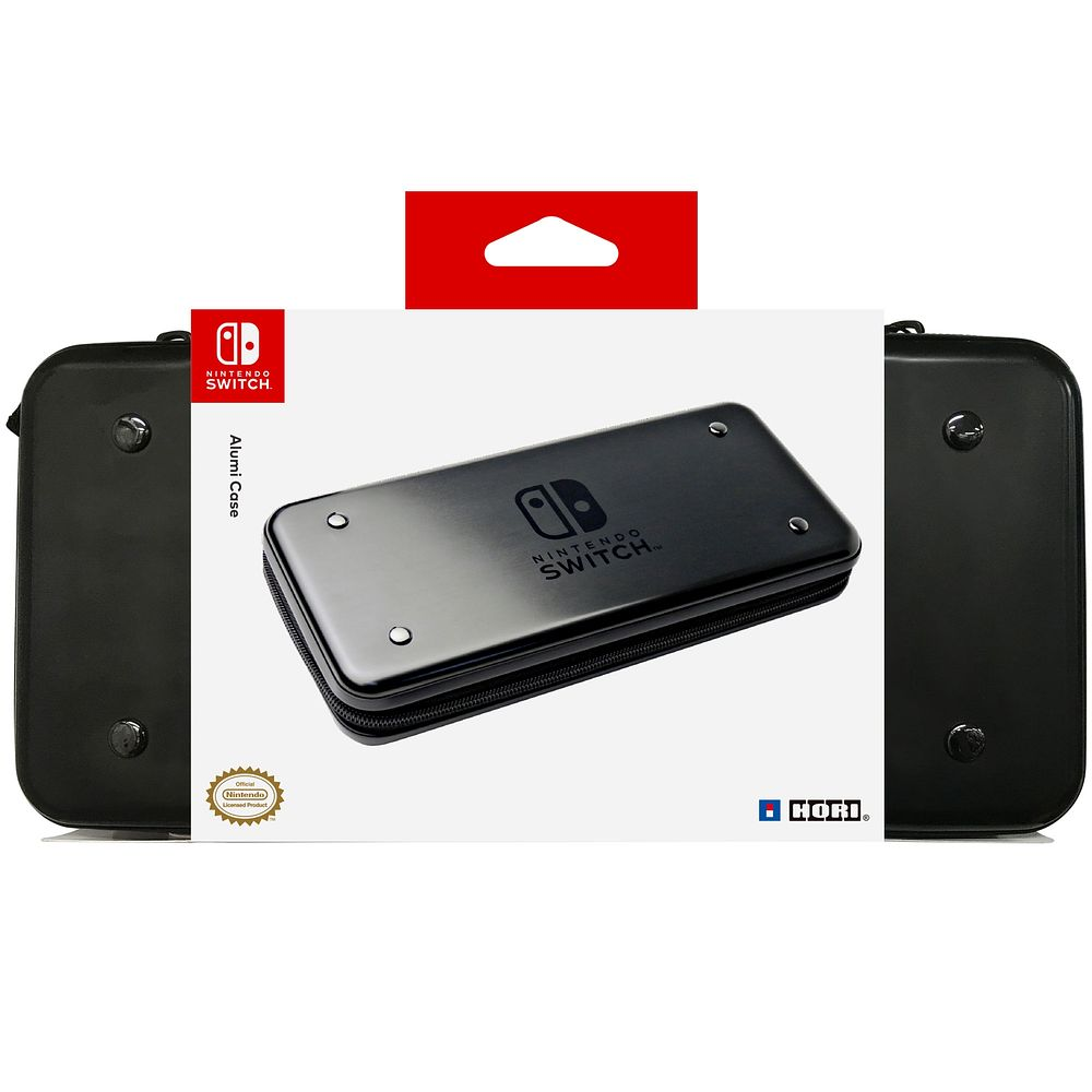 Hori Nintendo Switch Alumi Case for Console/Game Cards/Accessorie Black - image 1 de 3