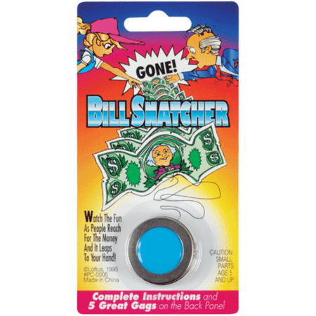 Bill Snatcher Metal Dollar Money Magik Trick Gag Joke Magic Assorted Colors - Jokes And Gags Toys