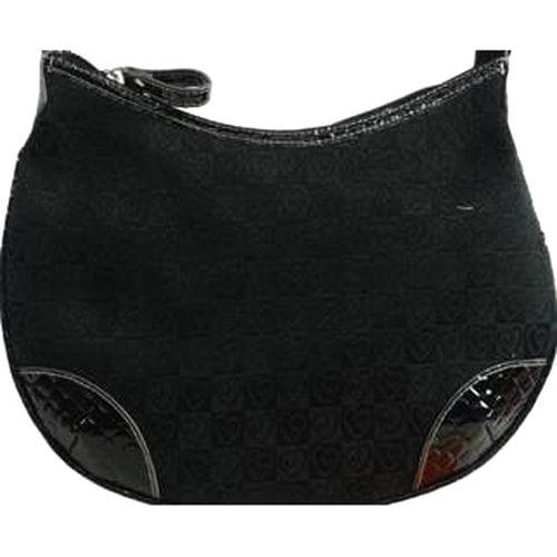 Heart Jacquard Hobo Bag, Black