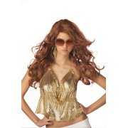 Sexy Super Model Costume Wig - Auburn