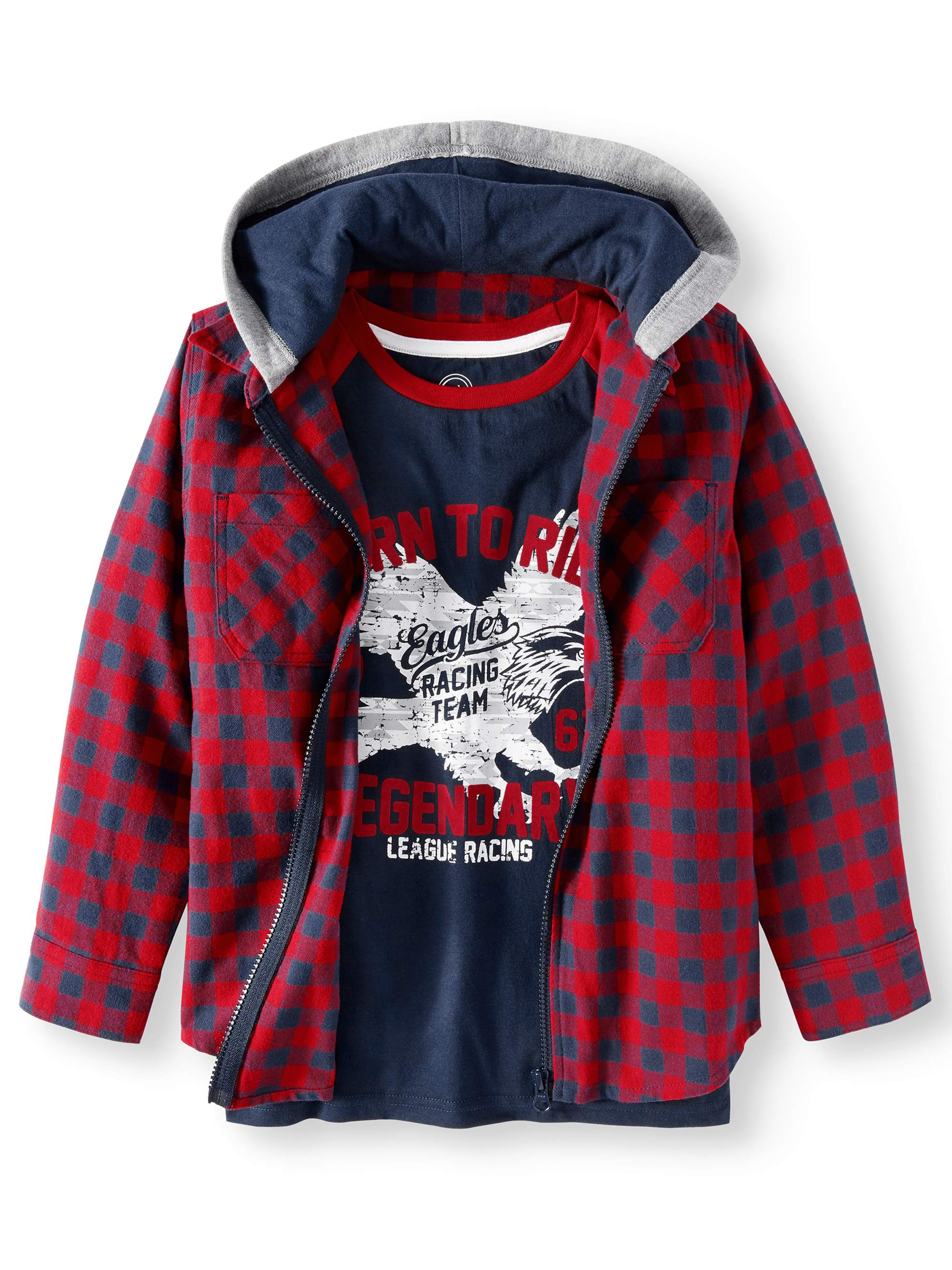 Shirt Jacket With Graphic Tee, 2-Piece Set (Little Boys & Big Boys)
