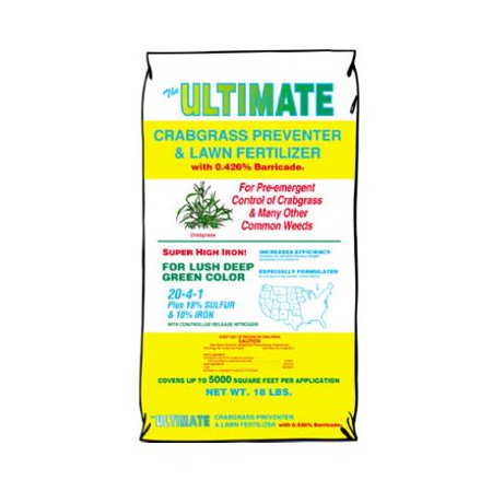 Image of 116 Crabgrass Preventer & Lawn Fertilizer with Barricade, 20-4-1, Covers 5,000-Sq.-Ft. - Quantity 1