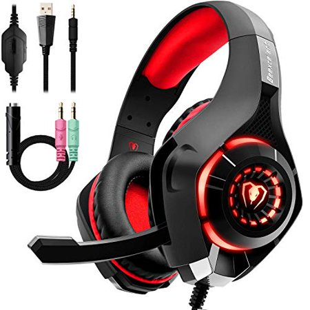 Beexcellent Gaming Headset for PS4 Xbox One, 2019 New Pro Gaming Headphone with Anti-Noise Mic, Surround Sound, Memory Foam