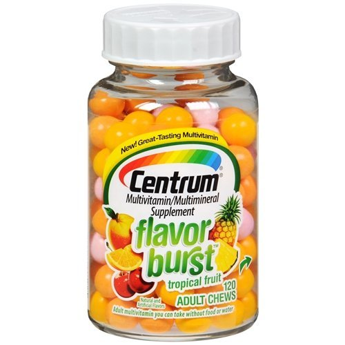 Centrum Flavor Burst Tropical Fruit Multivitamin Supplement 120 Chews