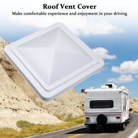 """14""""x 14"""" Universal Replacement RV Roof Vent Cover White Vent Lid for Camper Trailer Motorhome"""