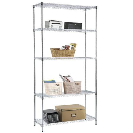 Uenjoy 5 Tier Wire Shelving Rack Adjustable Heavy Duty Steel Shelf ...