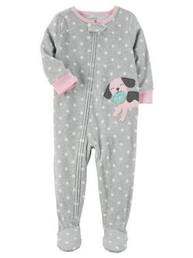 a08031c48d Product Image Carter s Little Girls  1 Piece Dog Fleece Pajamas
