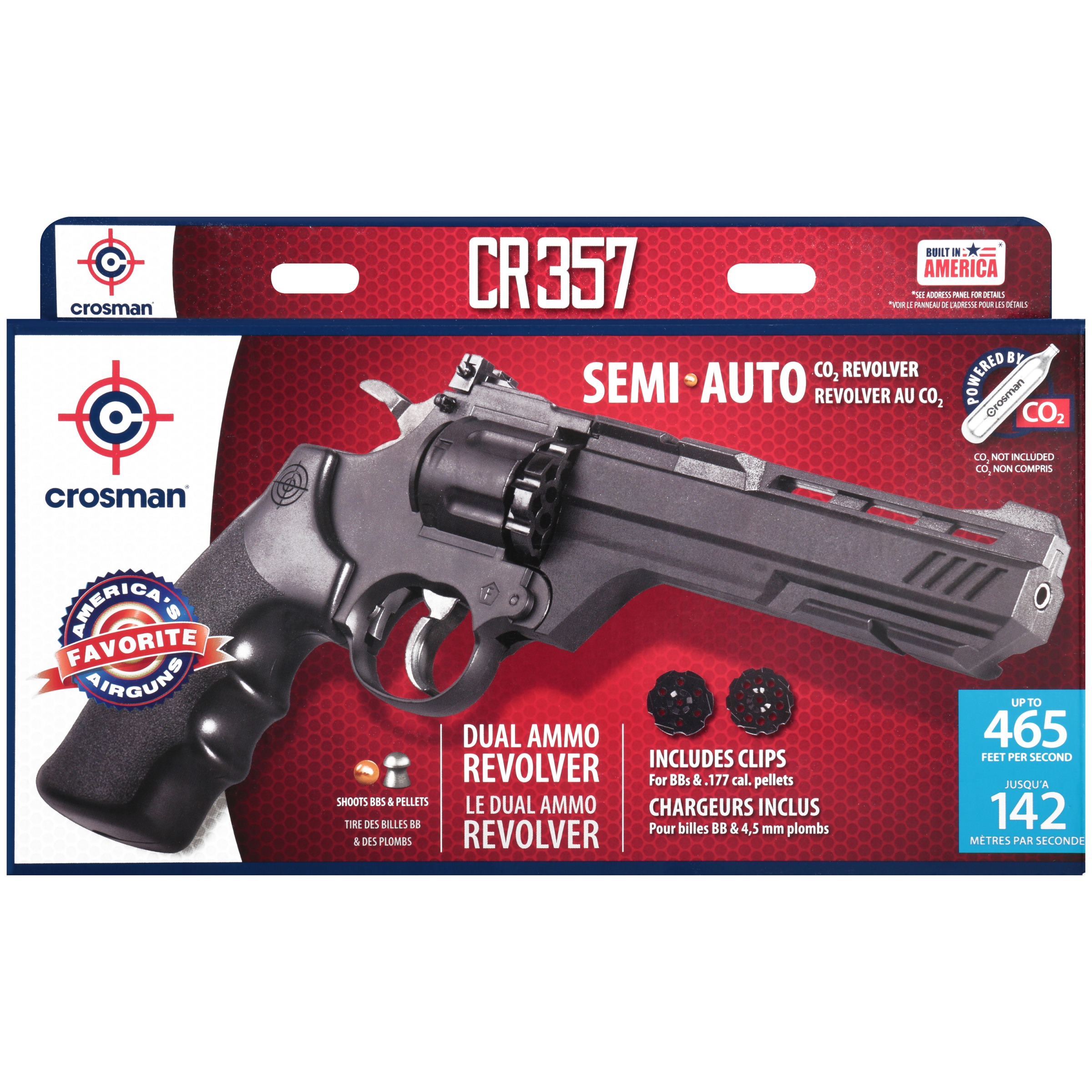 Crosman CR357 Revolver  177 Caliber CO2 Air Pistol, 465fps