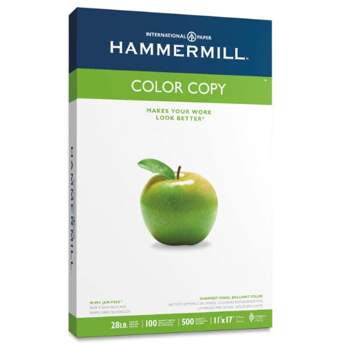 "Hammermill Color Copy Paper - For Laser, Inkjet Print - Ledger/tabloid - 11"" X 17"" - 28 Lb - 100 Brightness - White (HAM102541)"