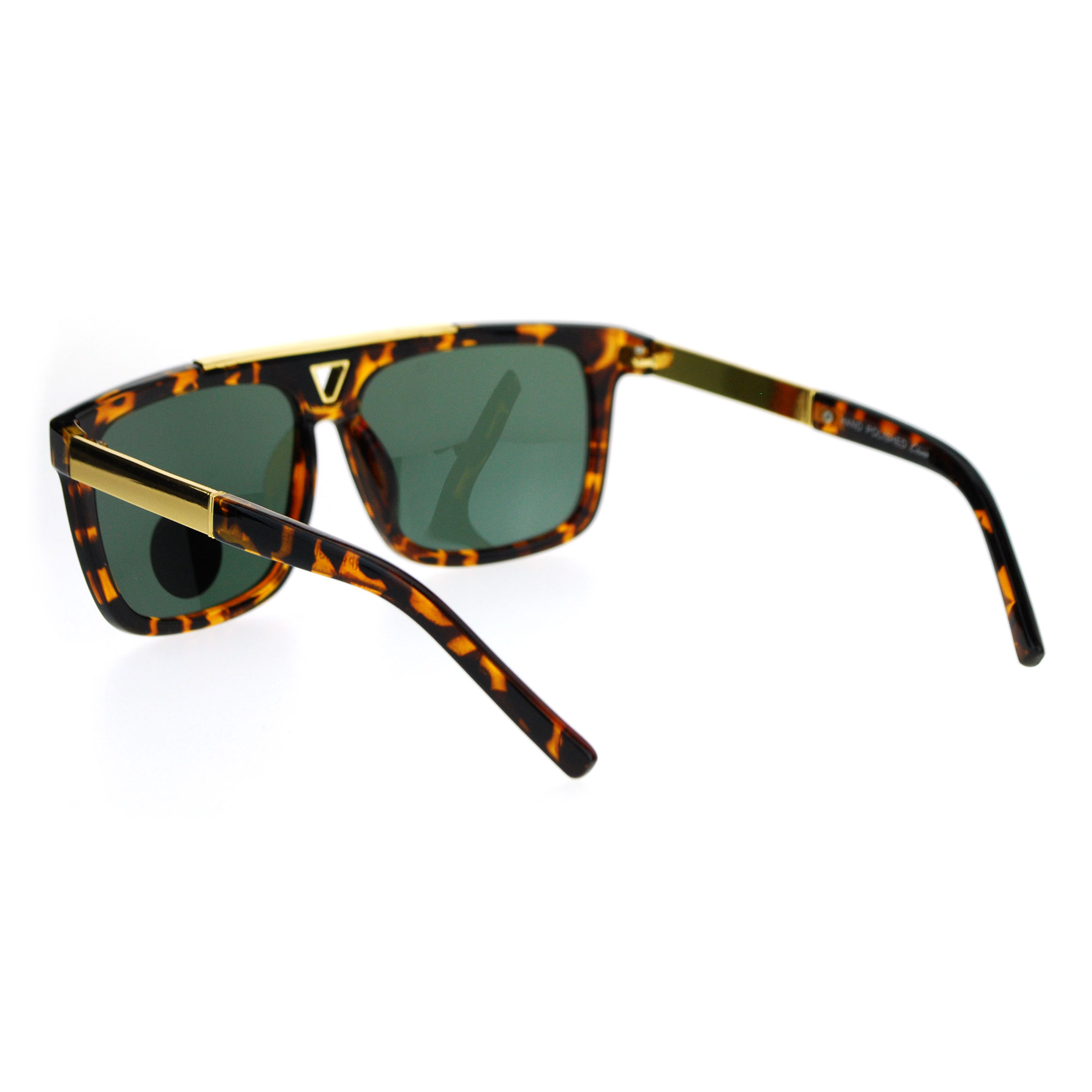 c9d31dfa8cd SA106 - SA106 Mens Tempered Glass Lens Mobster Mafia Flat Top Luxury  Gangster Sunglasses Black - Walmart.com