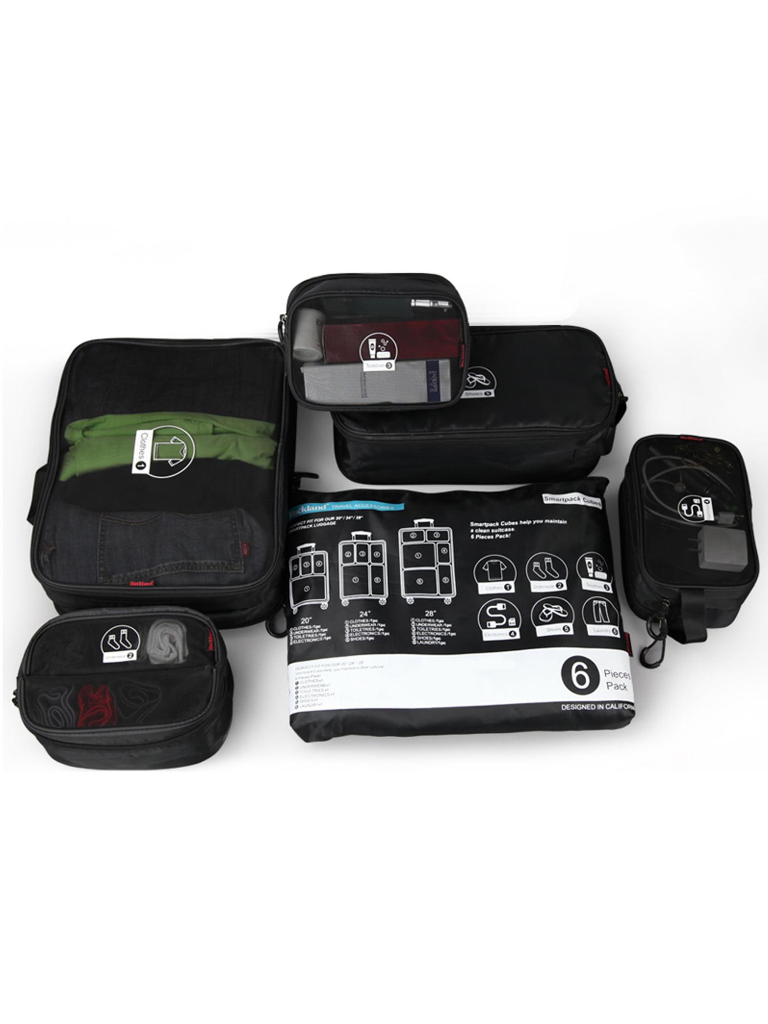 Rockland - Rockland Luggage 6-Piece Smartpack Cube Set U02 ...