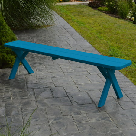 A & L Furniture Yellow Pine Cross Legged Picnic Table with 2 Benches ()