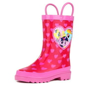 Hasbro My Little Pony Rainbow Girl's Pink Rain Boots (Toddler / Little Kids)