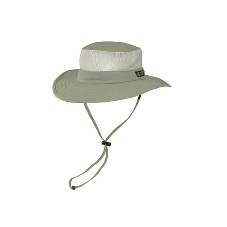 3d98af44018b0 Dorfman Pacific Wide Brim Sun Supplex Hat with Mesh Sides - Walmart.com