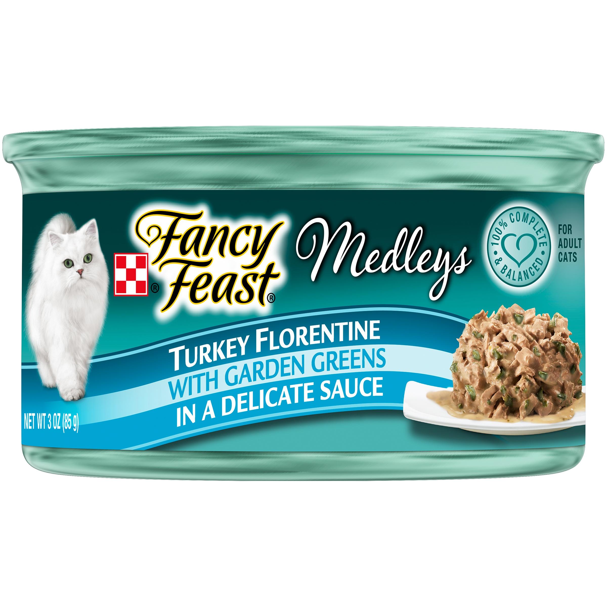 Purina Fancy Feast Medleys Turkey Florentine Cat Food 3 oz. Can