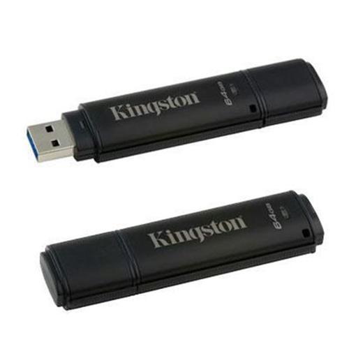 Kingston 64GB DataTraveler 4000 G2 USB Flash Drive - 64 GB - Black - 256-bit