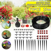 72PCS 75 FT Micro Drip Irrigation Device Auto Watering System Automatic Drip Irrigation System Garden Self Watering Hose Drippers For Home Garden Hanging Basket Plant Flower
