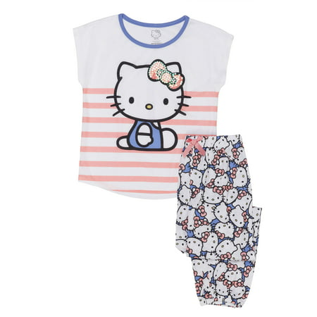 Girls' Hello Kitty Girl's 2 Piece Pajama Sleep Set (Little Girl & Big Girl) ()
