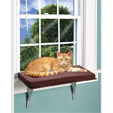 Foam Cushion Deluxe Kitty Window Perch With Fleece Cover (Kitty Perch)