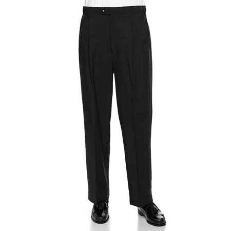 RGM Men's Tuxedo Pants Pleated Front With Side Satin (Pleated Satin Flat)