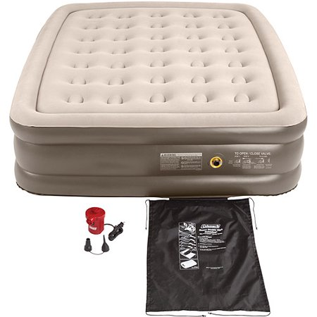 Coleman Queen Double High Airbed 120V Combo