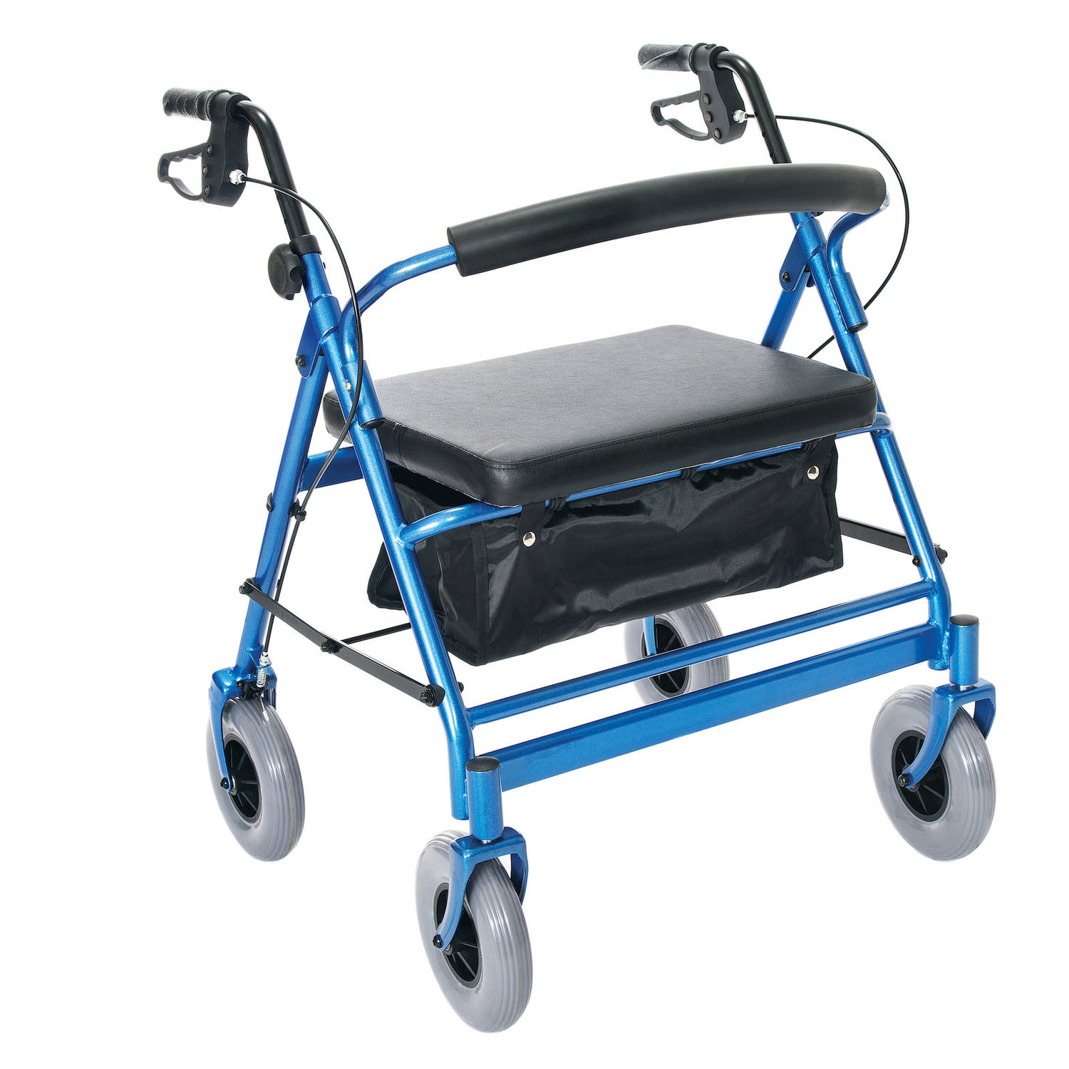 Heavy Duty Four Wheel Walker, Supports up to 500lbs.