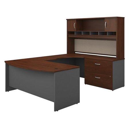 "Bush Business Series C 72"" Right U-Shaped Hutch Desk in Hansen Cherry - image 8 de 8"
