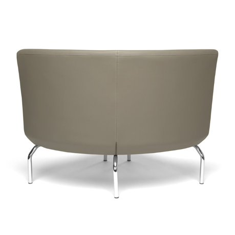 Ofm triumph armless 90 degree guest chair in taupe for 90 degrees salon