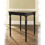 Turned Leg Pub Table-Finish:Black