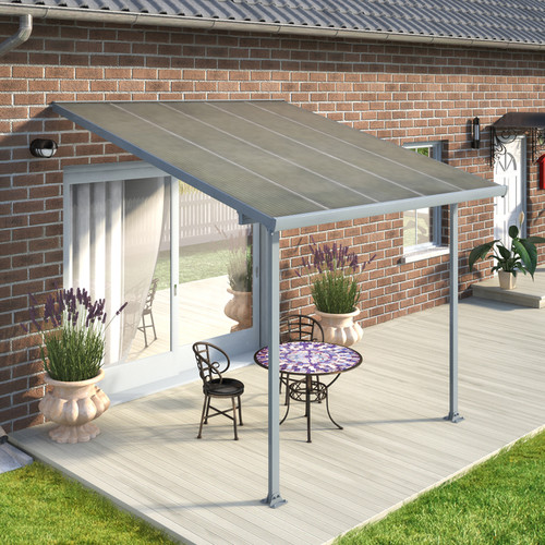 Palram Feria Patio Cover 10 D Gray Walmart Com