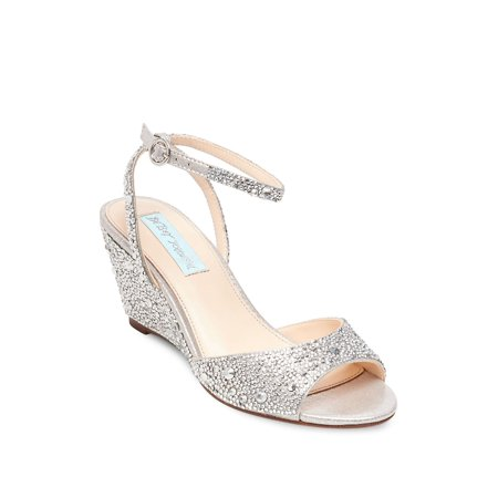 Elora Embellished Ankle Strap Wedge Sandals ()