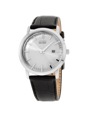 Product Image Citizen Silver Dial Leather Strap Men S Watch Bm7190 05a