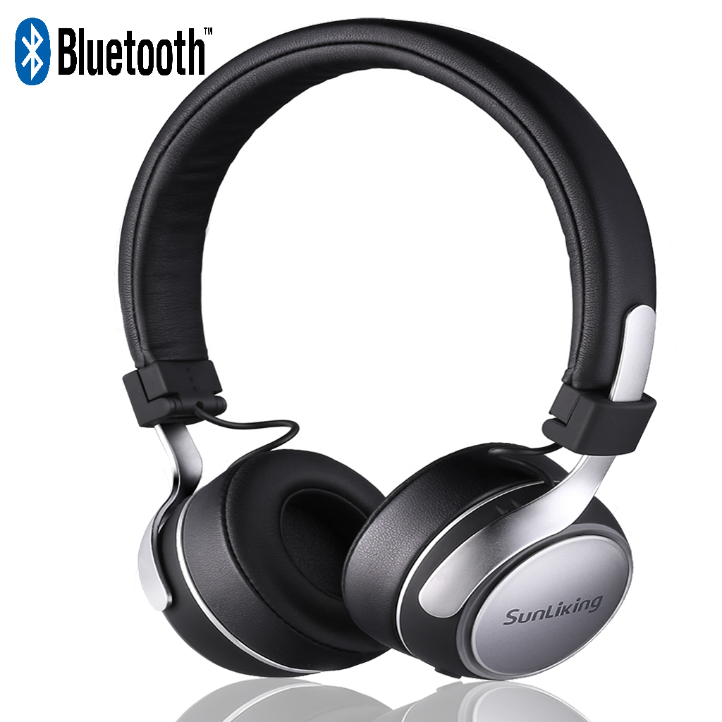 Sunliking Bluetooth Headphones With Mic Portable Wireless Headphones With Hide Fidelity Cd Like Audio On Ear Fashionheadphones With Long Playtime For Airplanes Travel Work Tv Pc Phone Walmart Com Walmart Com
