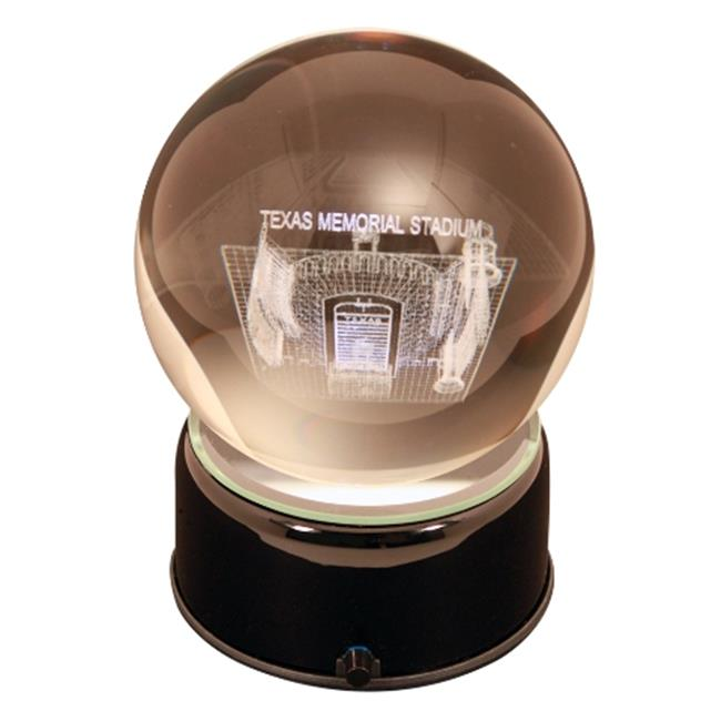 Paragon Innovations TexasULES Texas University stadium sub-surface etched in a lit  musical and turning crystal ball