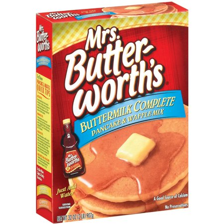 (4 Pack) MRS. BUTTER-WORTH'S Buttermilk Complete Pancake & Waffle Mix, 32 oz Complete Buttermilk Pancake Mix